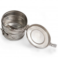 Steriliser Drum, Stainless Steel, 240diax 290mm